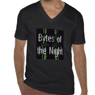 Bytes of the Night Tshirt by CricketDiane