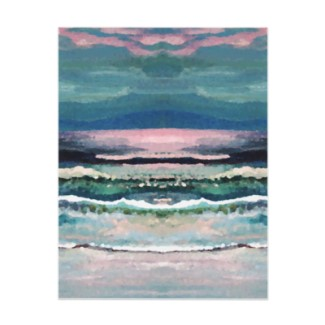 Cricket's Ocean Beach Painting as a Letterhead - by CricketDiane