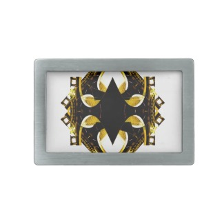 Double Gold Belt Buckle - Urban Futurism by CricketDiane