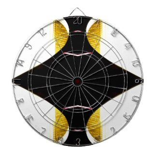 Double Gold Urban Futurism Dart Board - CricketDiane Designs