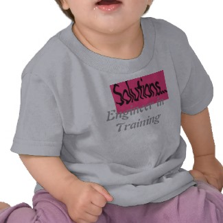 CricketDiane STEM Tshirts for Toddlers & Children - Engineer in Training Tee
