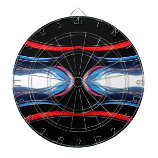 Fluid Harmonics Red Black Blue and White Dart Board CricketDiane