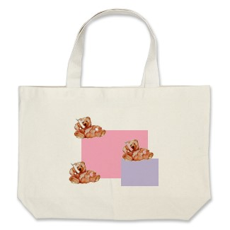 Tote Bag with Honey Bears Talking on the Phone by CricketDiane 2013