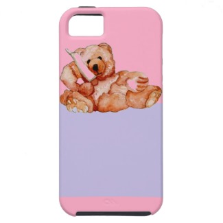 Honey Bear Talking on the Phone cellphone designer case CricketDiane