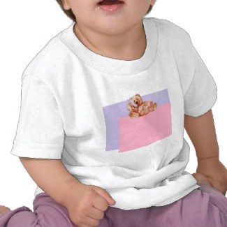 Honey Bear Talking on the Phone Children's Cute Teddy Bear Tshirt by CricketDiane
