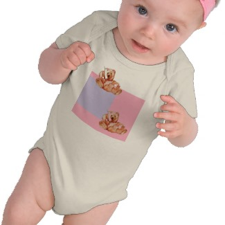 Honey Bear Talking on the Phone Baby Teddy Bear Tshirts by CricketDiane