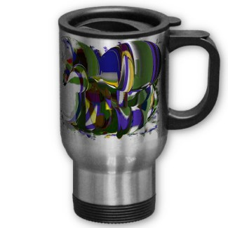 Just a Wild Pony Abstract Horse Designer Commuter Mug by CricketDiane