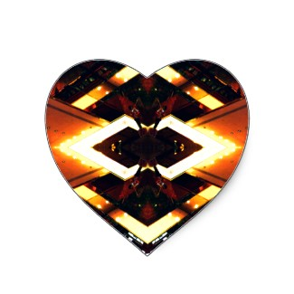 Heart Stickers Light Scape Urban Futurism CricketDiane Designs