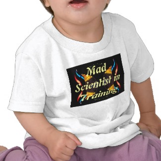 Kids Geek Tshirts by CricketDiane - Mad Scientist in Training - Geek Junior Tees