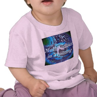 Math Genius in Training Baby Toddlers Tee - cricketdiane designs