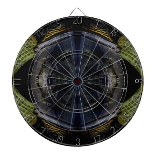 Ornate Scifi funky dart board - designed by cricketdiane