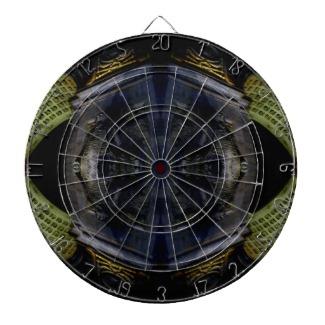 Ornate Scifi funky dart board - designed by cricketdiane