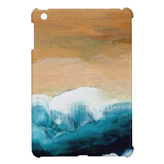 Prelude Sea Waves Art by CricketDiane on a mini ipad case on zazzle