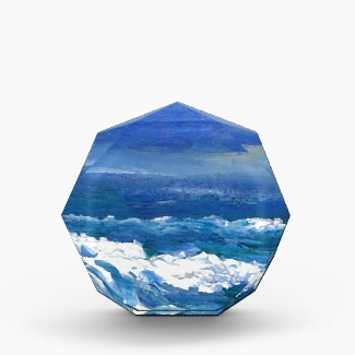 Romance of the Ocean Acrylic Award to customize by CricketDiane