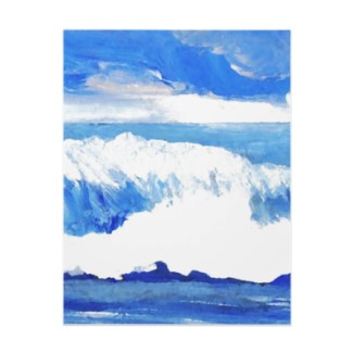 Taste of the Sea Ocean Waves Painting by CricketDiane as Letterhead Template on zazzle cricketdiane