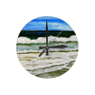 The Ocean's Elegance by cricketdiane as a wall clock on zazzle