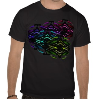 Weird nifty spectrum geometric futurism tshirts - CricketDiane Design 2013