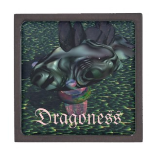 Dragoness Dragon Jewelry Gift Box by CricketDiane Art and Design 2013