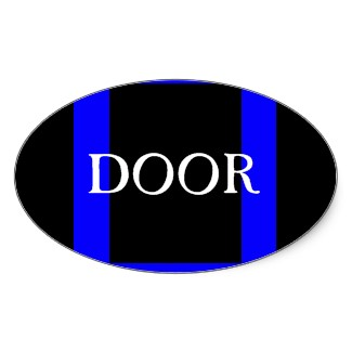 Door Sticker Visual Identifier for Adaptive Living Tools store at Zazzle - a CricketDiane Design Store 2013