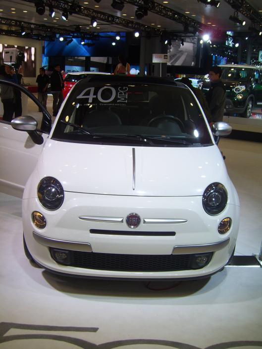 Fiat 40 mpg car NYC Intl Auto Show 2013 CricketDiane Photos