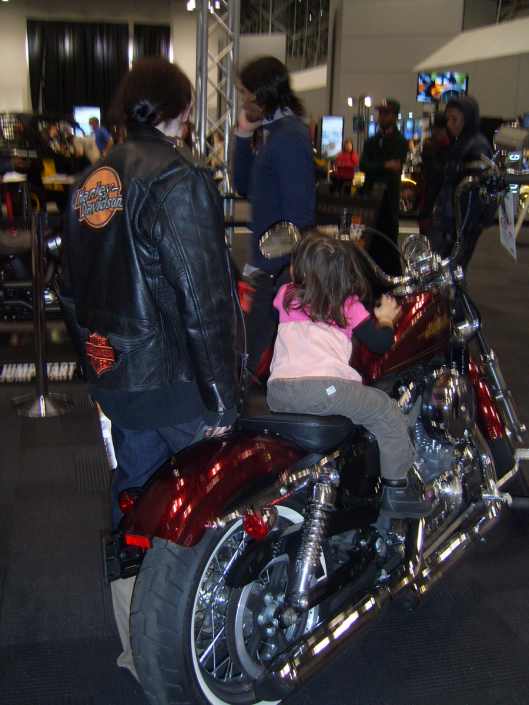 Harley and Girls Never Underestimate the Power NYC Intl Auto Show 2013 CricketDiane