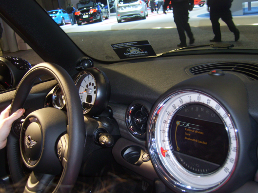 Mini Cooper Controls and Dashboard NYC Intl Auto Show 2013 CricketDiane