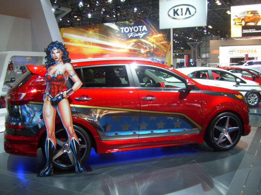 Wonder Woman Custom - NYC Intnl Auto Show CricketDiane 2013