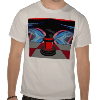 optical_knight_chess_geometric_star_illusion_red_tshirt