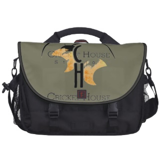 French Grey - Army Green and Black Messenger Bag / Laptop Satchel with the Cricket House Studios Logo to make matching brand tools for my small business
