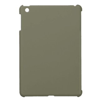 French Grey - Army Green Mini iPad Cover from the Custom Design Palette CricketDiane Store on Zazzle with Color Only Products to use for brand marketing and fashion matching