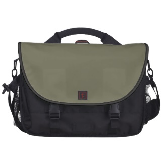 The color only French Grey / Army Green and Black Messenger Bag / Handbag from the Custom Design Palette store I'm creating on Zazzle