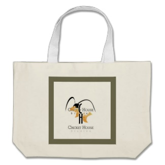 French Grey Army Green Beach Bag Tote with Cricket House Studios Logo