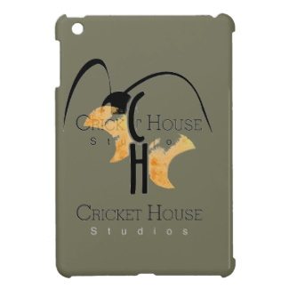 French Grey - Army Green iPad Mini Case with Cricket House Studios Logo added to match other items for my small business
