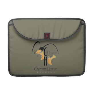French Grey - Army Green Mac Laptop Case with Cricket House Studios Logo