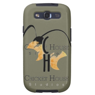 French Grey - Army Green Samsung 3 Case with Cricket House Studios Logo