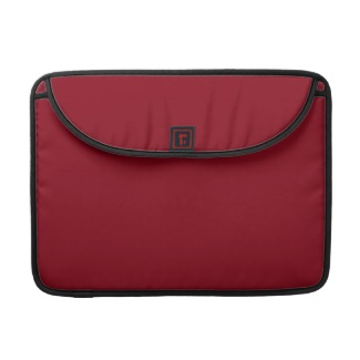 Laptop / Mac Case in Burgundy Wine Deep Blood Red Color Only to Customize