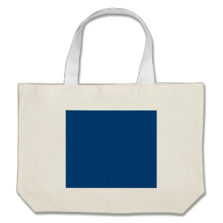 Royal Blue on Cream Shopping Bag to Customize with Business, Organization, Association or Family Logo, Brand or Product Name to Match