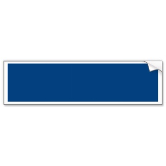 Small Business Brand and Marketing Tools - Royal Blue Bumper Sticker