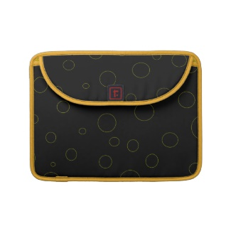 Black Bubbles Urban Modern Laptop Sleeve for Macbooks by CricketDiane 2013