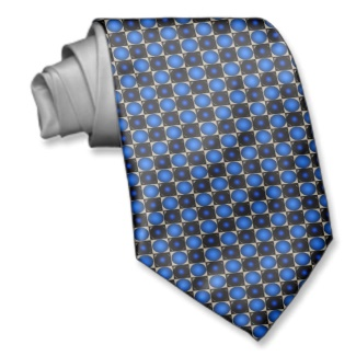 Blue Optical Illusion Chess Board Mens Tie 2 by CricketDiane 2013