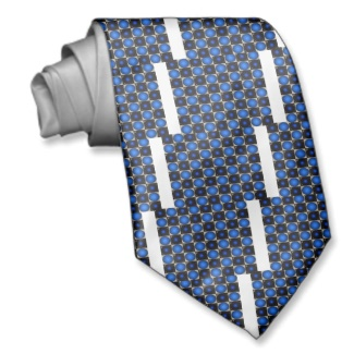 Blue Optical Illusion Chess Board Mens Tie A by CricketDiane 2013