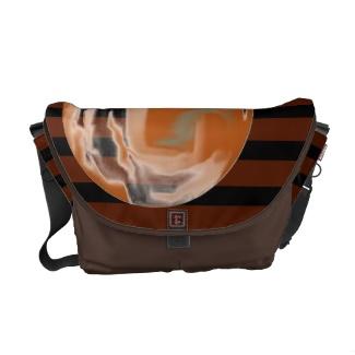 Brown Black Coffee Stripe w Caramel Bubble Design 3 Messenger Computer Bag Handbag by CricketDiane 2013