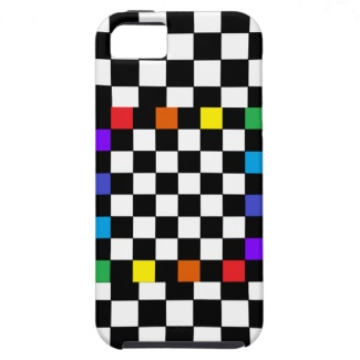 Checkerboard Rainbow iPhone 5 Case by CricketDiane 2013