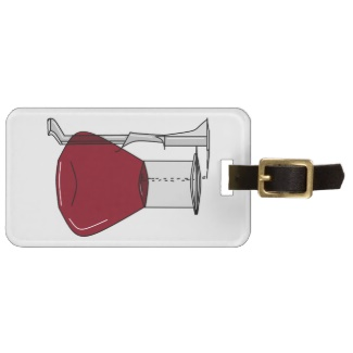 chemists_chemistry_beakers_test_tubes_solutions_luggage_tag by cricketdiane 2013