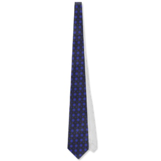 Deep Blue 3d Optical Illusion Electronics Men's Ties by CricketDiane 2013