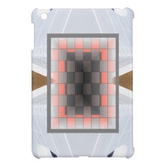 Floating Optical Illusion Chessboard in Peach and Grey by CricketDiane