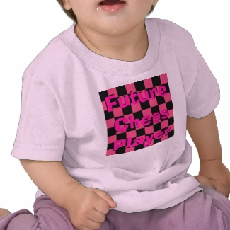 Future Chess Player Toddler Children Chess Pink Girly Tshirt 5 - CricketDiane Art and Design 2013
