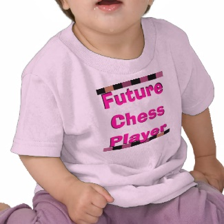 Future Chess Player Toddler Children Chess Pink Girly Tshirt 6 - CricketDiane Art and Design 2013