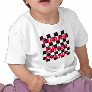 Future Chess Player Toddler Children Chess Tshirt 2 by CricketDiane 2013