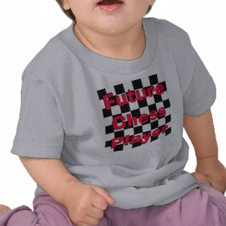 Future Chess Player Toddler Children Chess Tshirt 3 by CricketDiane 2013